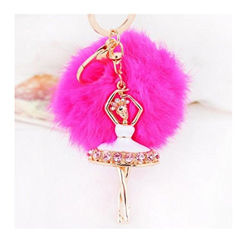 Iuhan® Fashion Ballet Girl Alloy Key RingHanging Plush Ball Ornaments (Hot - Hot Girl Hippie