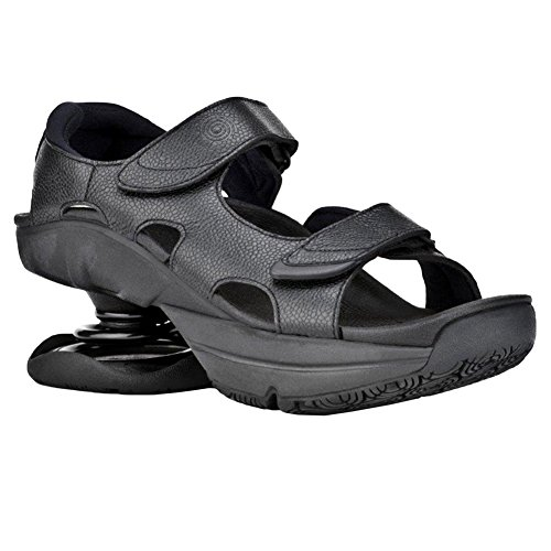Z-CoiL Pain Relief Footwear Women's Sidewinder Black Sandal