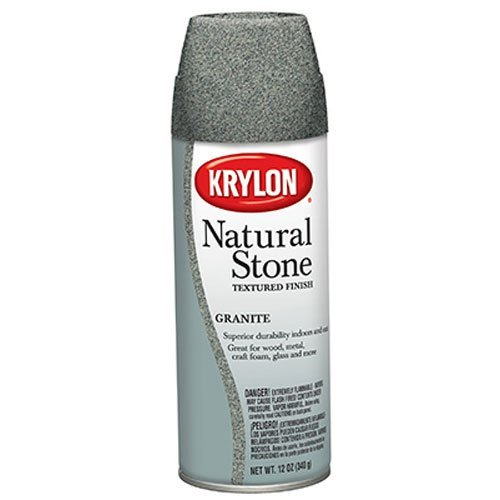 Krylon K03700000 Natural Stone Decorative Aerosol, Granite F