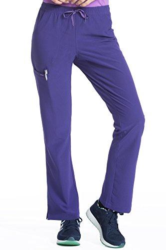 Med Couture Women's 'Air Collection' Cloud 9 Scrub Pant, Grape/Signature Purple, ()