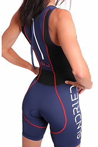 b0049eae36d Sundried Womens Premium Padded Triathlon Tri Suit Compression Duathlon  Running Swimming Cycling skin suit  Amazon.co.uk  Sports   Outdoors