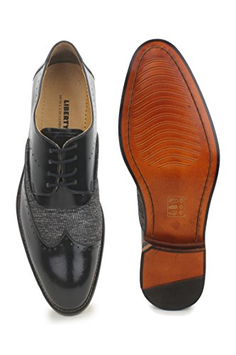Liberty Footwear Fortune Mens Wingtip Oxford Lace Up Dress Shoe