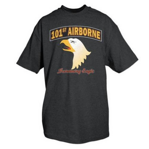 Fox Outdoor 63-971 XL 101St Airborne Imprint T-Shirt - Black, Extra Large