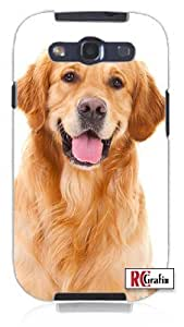 Cool Painting Happy Panting Golden Retriever Dog Unique Quality Hard Snap On Case for Samsung Galaxy S4 I9500 - White Case