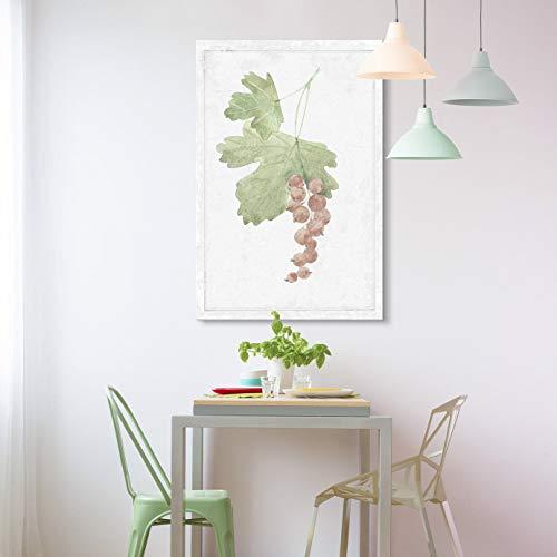 YEHO Art Gallery Canvas Prints Wall Art Oil Paintings Wall Decor for Livingroom Bedroom Office Hand Drawn Red Cherry Vine Tree Minimal Fruit Series Artwork 20