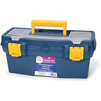 Darice 97910 16-Inch Storage Box Petroleum Blue