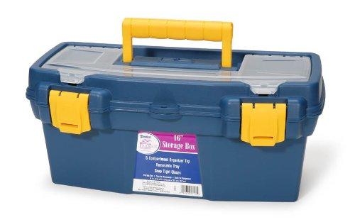 Darice 97910 16-Inch Storage Box Petroleum Blue by Darice