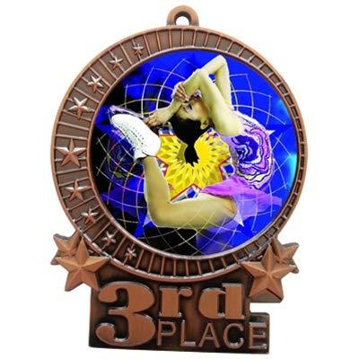エクスプレスメダル 1~50パック 3インチ フィギュアスケート 3位 ブロンズメダル ネックリボン付き 受賞歴 XMD B07G6ZVHK1