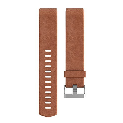 Fitbit Charge 2 Accessory Band, Leather, Cognac, Small