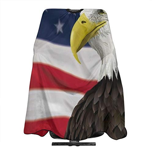 - Bald Eagle On The American Flag Salon Barber Cape Hairdressing, Hairdresser,Cutting Hair Waterproof Cloth Salon Hairdressing Hair Styling Gown Apron Cape for Adult/Women/Men