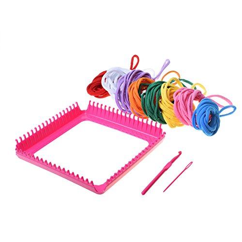 Kloud City 1 Set of Plastic Weaving Loom Starter Stitch Kit For Beginner Toddler DIY Teaching Self Learning (Loom Weaving Plastic)
