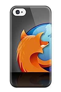 Holly M Denton Davis's Shop 3408768K49056086 High Quality Firefox Black Shadow Skin Case Cover Specially Designed For Iphone - 4/4s