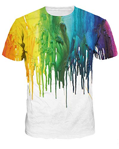 Sanatty Unisex Novelty T Shirts 3D Printed Galxy T Shrist Short Sleeve Cool Summer Graphic T-Shirts Tops Couple Tees