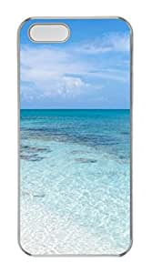 iPhone 5S PC Clear case Relief case non slip case Hard iPhone Case Suit iPhone5 Colored case Beach In Summer
