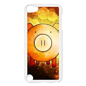 ZHANG Cute Pig - Hard Case Cover for iPod Touch 5