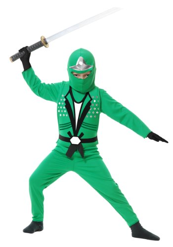 Ninja Avenger II Child Costume Green - Medium