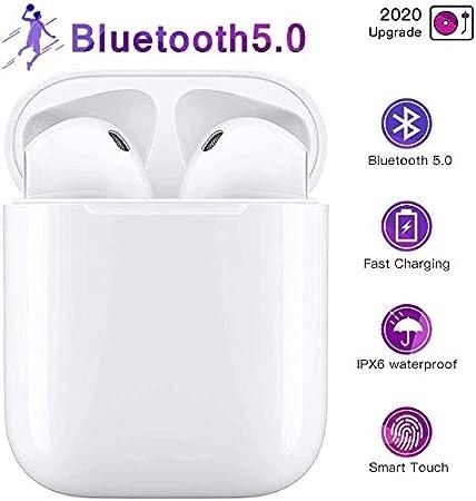 Imagen deAuriculares inalámbricos Bluetooth 5.0 con cancelación de Ruido, Auriculares Deportivos táctiles Inteligentes a Prueba de Agua, con Estuche de Carga portátil para Samsung/iPhone/AirPods