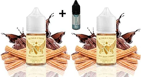 Aroma Kings Crest Don Juan Churro 30 ml (PACK 2 UNIDADES) + E-liquid Vape Piper SINGLES FROZEN MENTHOL - 10ml - Eliquid ejuice para Cigarrillos Electrónicos ecig vaper vapor mod: Amazon.es: Salud