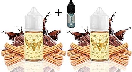 Aroma Kings Crest Don Juan Churro 30 ml (PACK 2 UNIDADES) + E-liquid Vape Piper SINGLES FROZEN MENTHOL - 10ml ...