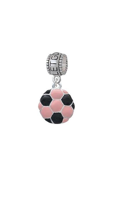 2-D rosa balón de fútbol - Let Go Let Dios cuenta para pulsera ...