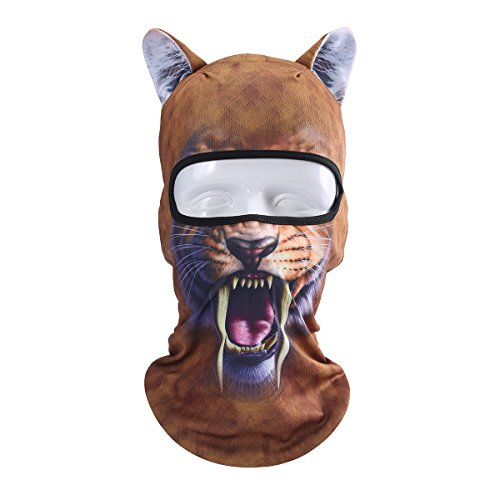 JIUSY 3D Cute Animal Ears Face Mask Windproof Breathable Balaclava for Skiing Cycling Motorcycle Snowboard Skateboard Hiking Fishing Halloween Party BB-G-03