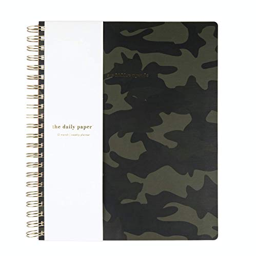 TDP 2020 Weekly and Monthly Planner/Calendar, Fashion Cover, Spiral Bound 8.5x11, Camouflage