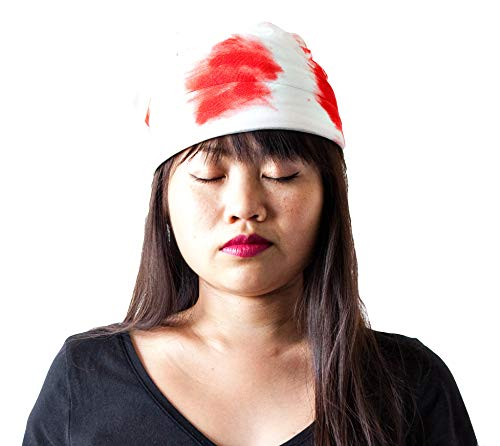 Hit Delights Bloody Bandage Mummy Hospital Hat for Costumes, Halloween. for Adults, Men, and Women. White ()