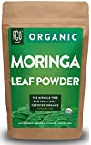 Organic Moringa Oleifera Leaf Powder | Perfect for Smoothies, Drinks, Tea & Recipes | 100% Raw From India | 16oz Resealable Kraft Bag (1 Pound) | by Feel Good Organics