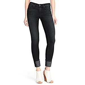 HyBrid & Company Women's Super Stretchy Deep Wide Cuff/Capri Denim Jeans