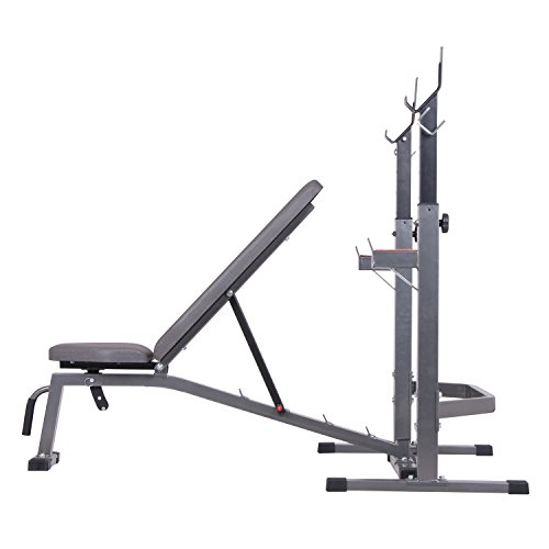 Olympic Weight Bench With Squat Rack: BCB3835 Two-piece Set Olympic Weight Bench And Squat Rack