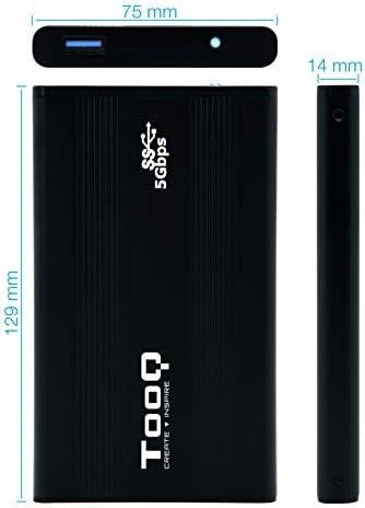 TooQ TQE-2524B - Carcasa para Discos Duros HDD de 2.5