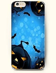 SevenArc Apple iPhone 6 Plus case 5.5 inches - Allhalloween Scarry Pumpkin Lanterns In Blue Nights wangjiang maoyi