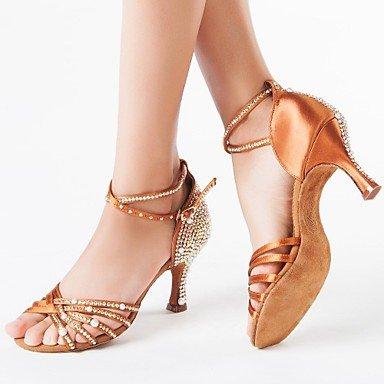 Salsa Tacón Danza Zapatos No latina brown Marrón baile XV de Luis Personalizable wqwg6