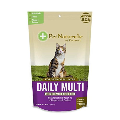 Daily Multi for Cats, Multivitamin Formula, 30 Bite Sized Chews