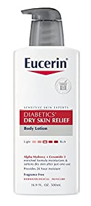 Eucerin Diabetics' Dry Skin Relief Body Lotion, 16.9 Ounce
