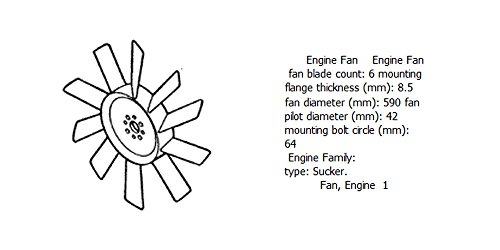 Engine fan 4931802 for diesel engine: