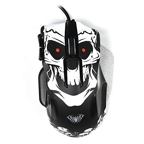 AULA Wired RGB Gaming Mouse with Side Button,[Death Entanglement],10 Programmable Buttons ,8200 DPI ,High Precision,Comfortable Grip Computer Mouse Ergonomic Design Pro Gamer Mice