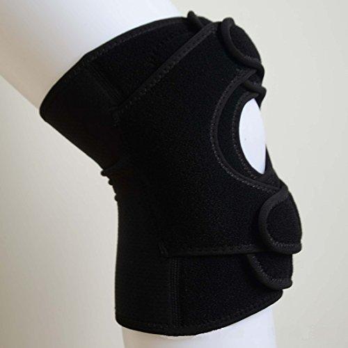 Andux im Freien Atmungsaktiv Schweißabsorbierend hochelastischen Silikon Einstellbare Kniestütze Basketball Volleyball Bergknieschützer ST-0035
