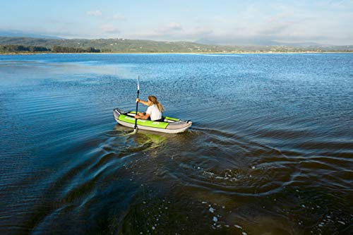 41sQ7M0ealL Aquamarina Unisex– Erwachsene Kayak 1 Posto Laxo-285 Kajak, Grün Schwarz, Uni