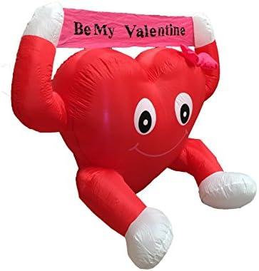 1f1e01e6b4920 4 Foot Valentine's Inflatable Sweet Heart Yard Decoration