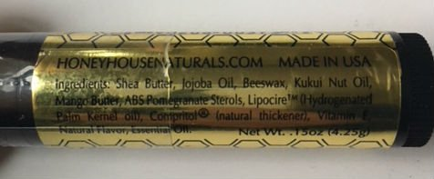 Bundle of 5 - Honey House Naturals Lip Butter Tubes Variety - Natural, Chocolate Mint, Vanilla Almond, Vanilla Berry, Peppermint