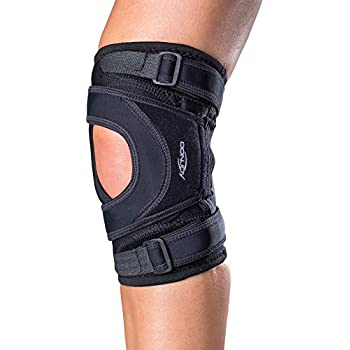67086072dd Amazon.com: DonJoy Deluxe Hinged Knee Brace, Drytex Sleeve, Open ...