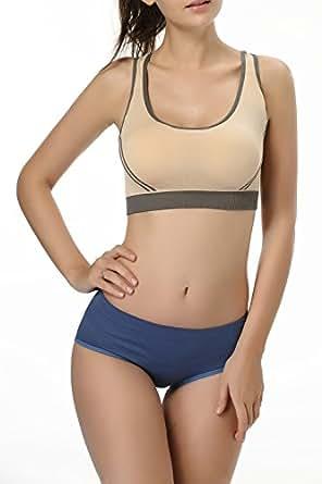 Shmimy Womens Sport Bra Yoga Gym Fitness Bra Racer Tank Crop Top