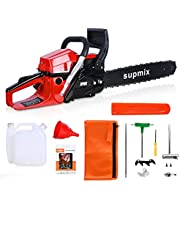 Gas Chainsaw 20 Inch Chainsaw Gas Powered 60cc 2-Cycle Professional Power Chain Saws for Trees Petrol Chainsaws Garden Tools