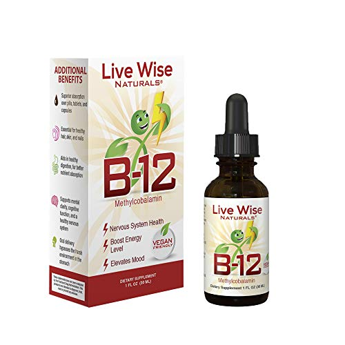 Live Wise Naturals Vitamin B12 Liquid Drops