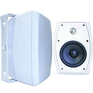 Outdoor weatherproof speaker for patio-Audiophile quality- Sound Appeal (White)