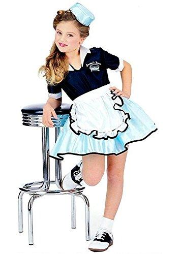 50's Boy Costume (50s Car Hop Girl Child Small (4-6) Retro 50's Costume)