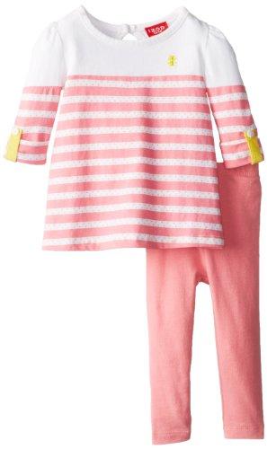 Izod Baby Girls' 2 Piece Legging Set, Pink, 18 Months