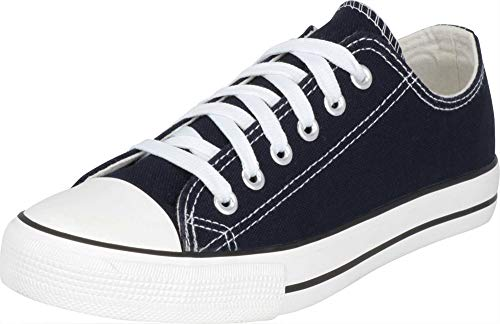 S-3 Women's Low Top Classic Canvas Fashion Sneaker (9 B(M) US, Navy)