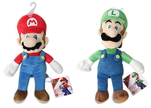 Sanei Set of 2 Super Mario All Star AC01 Mario & AC02 Luigi Stuffed Plushes JVG INC. - CA SetACSaneiMarioLuigi